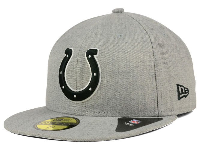 Indianapolis Colts New Era NFL Heather Black White 59FIFTY Cap ... 470d671555f