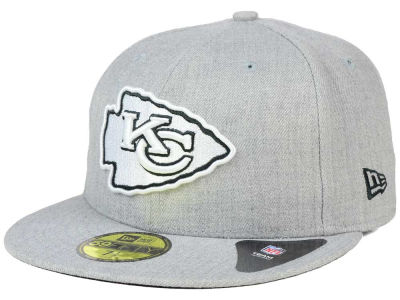 Kansas City Chiefs New Era NFL Heather Black White 59FIFTY Cap