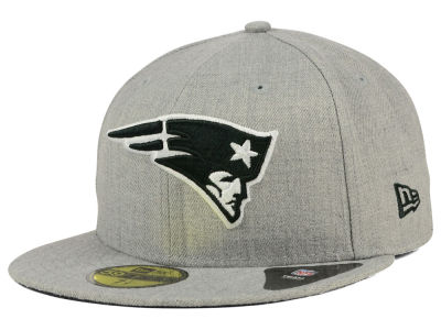 New England Patriots New Era NFL Heather Black White 59FIFTY Cap