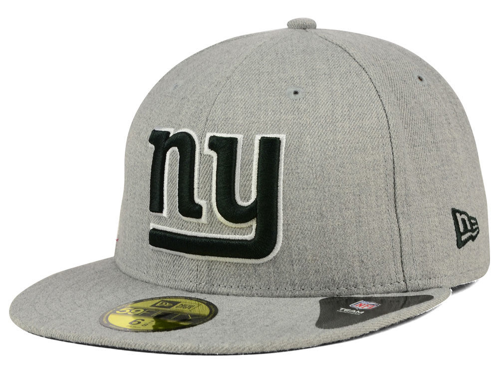 New York Giants New Era NFL Heather Black White 59FIFTY Cap  a3ab6448673e