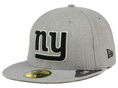 New York Giants New Era NFL Heather Black White 59FIFTY Cap