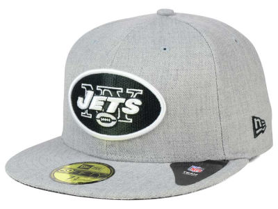 New York Jets New Era NFL Heather Black White 59FIFTY Cap