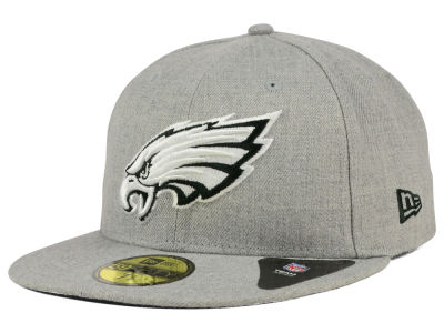 Philadelphia Eagles New Era NFL Heather Black White 59FIFTY Cap