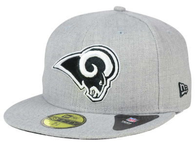 Los Angeles Rams New Era NFL Heather Black White 59FIFTY Cap