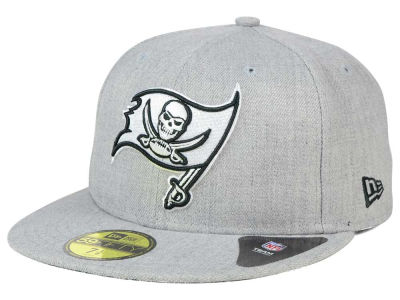 Tampa Bay Buccaneers New Era NFL Heather Black White 59FIFTY Cap