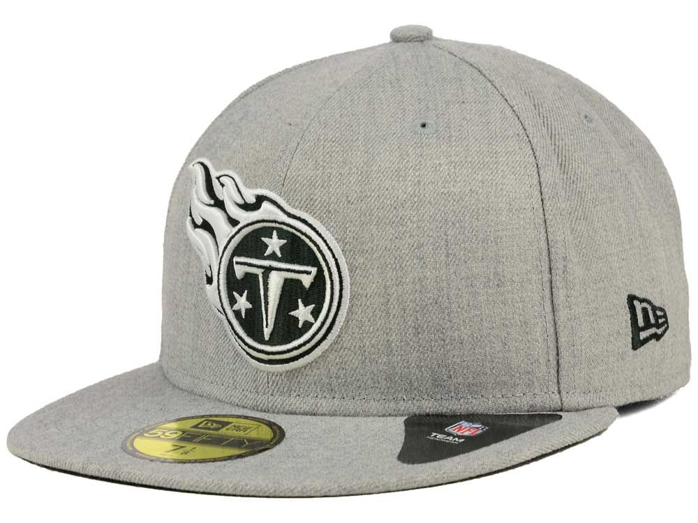 san francisco 522b0 5e474 ... new zealand tennessee titans new era nfl heather black white 59fifty cap  d0d89 1b435