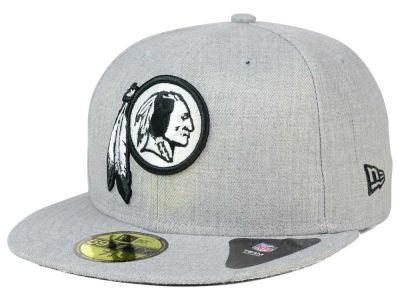 Washington Redskins New Era NFL Heather Black White 59FIFTY Cap
