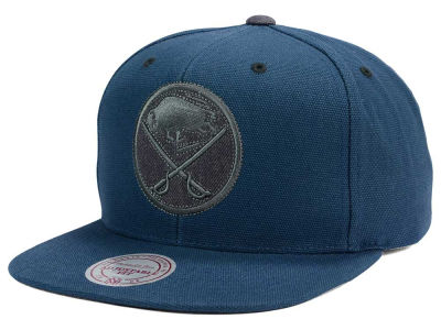 Buffalo Sabres Mitchell and Ness NHL Grey Tonal Logo Snapback Cap