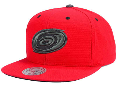 Carolina Hurricanes Mitchell & Ness NHL Grey Tonal Logo Snapback Cap