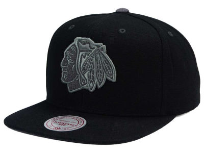 Chicago Blackhawks Mitchell and Ness NHL Grey Tonal Logo Snapback Cap