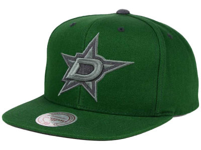 Dallas Stars Mitchell and Ness NHL Grey Tonal Logo Snapback Cap