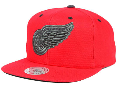 Detroit Red Wings Mitchell and Ness NHL Grey Tonal Logo Snapback Cap