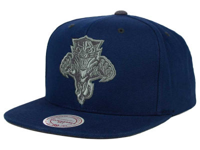 Florida Panthers Mitchell and Ness NHL Grey Tonal Logo Snapback Cap