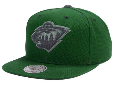 Minnesota Wild Mitchell and Ness NHL Grey Tonal Logo Snapback Cap