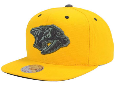 Nashville Predators Mitchell and Ness NHL Grey Tonal Logo Snapback Cap