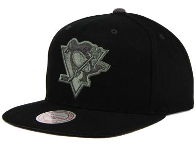 Pittsburgh Penguins Mitchell and Ness NHL Grey Tonal Logo Snapback Cap