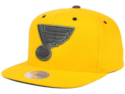 St. Louis Blues Mitchell and Ness NHL Grey Tonal Logo Snapback Cap