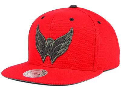 Washington Capitals Mitchell and Ness NHL Grey Tonal Logo Snapback Cap