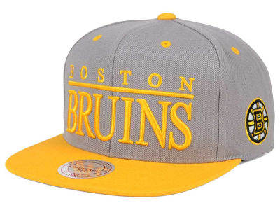 Boston Bruins Mitchell and Ness NHL Top Shelf Snapback Cap