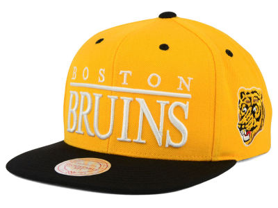 Boston Bruins Mitchell & Ness NHL Top Shelf Snapback Cap
