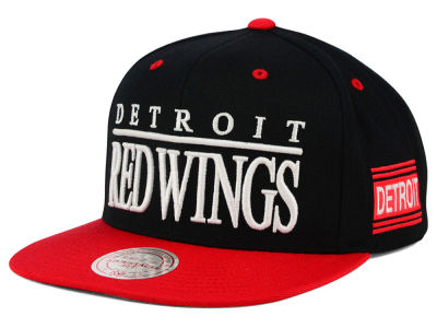 Detroit Red Wings Mitchell and Ness NHL Top Shelf Snapback Cap