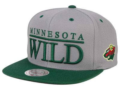 Minnesota Wild Mitchell and Ness NHL Top Shelf Snapback Cap