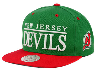 New Jersey Devils Mitchell and Ness NHL Top Shelf Snapback Cap