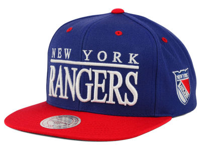 New York Rangers Mitchell and Ness NHL Top Shelf Snapback Cap