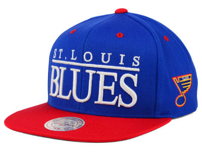 St. Louis Blues Mitchell and Ness NHL Top Shelf Snapback Cap
