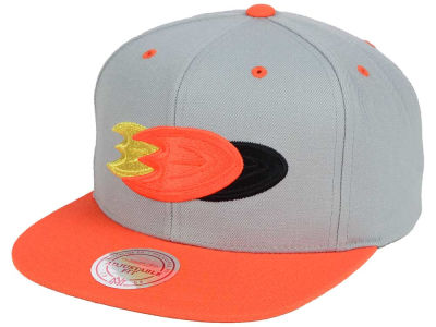 Anaheim Ducks Mitchell and Ness NHL Triple Color Stack Snapback Cap