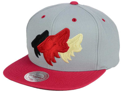 Arizona Coyotes Mitchell and Ness NHL Triple Color Stack Snapback Cap