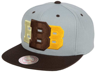 Boston Bruins Mitchell & Ness NHL Triple Color Stack Snapback Cap