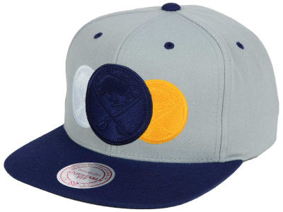 Buffalo Sabres Mitchell and Ness NHL Triple Color Stack Snapback Cap