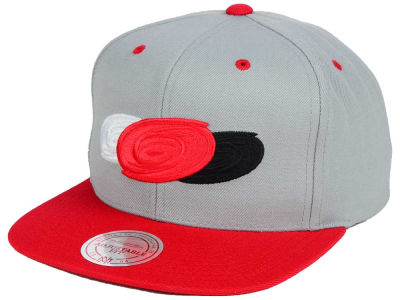 Carolina Hurricanes Mitchell and Ness NHL Triple Color Stack Snapback Cap