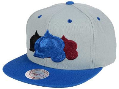 Colorado Avalanche Mitchell and Ness NHL Triple Color Stack Snapback Cap
