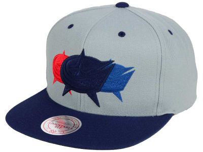 Columbus Blue Jackets Mitchell and Ness NHL Triple Color Stack Snapback Cap