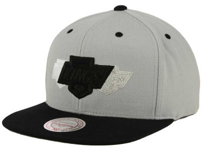 Los Angeles Kings Mitchell and Ness NHL Triple Color Stack Snapback Cap
