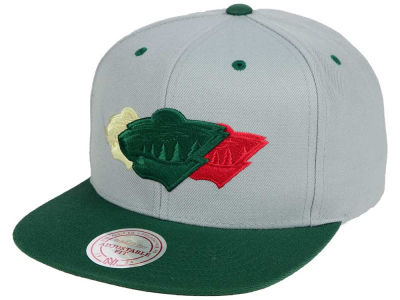 Minnesota Wild Mitchell and Ness NHL Triple Color Stack Snapback Cap