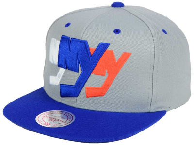 New York Islanders Mitchell and Ness NHL Triple Color Stack Snapback Cap