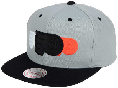 Philadelphia Flyers Mitchell and Ness NHL Triple Color Stack Snapback Cap