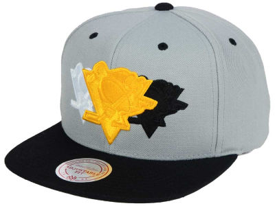 Pittsburgh Penguins Mitchell and Ness NHL Triple Color Stack Snapback Cap