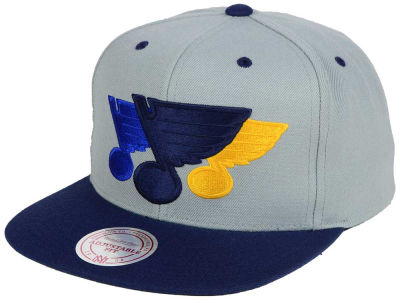 St. Louis Blues Mitchell and Ness NHL Triple Color Stack Snapback Cap