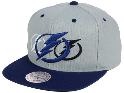 Tampa Bay Lightning Mitchell and Ness NHL Triple Color Stack Snapback Cap