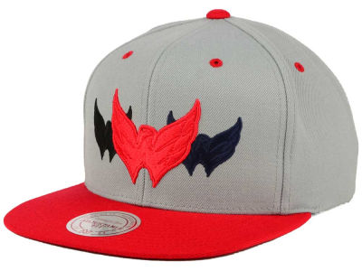 Washington Capitals Mitchell & Ness NHL Triple Color Stack Snapback Cap