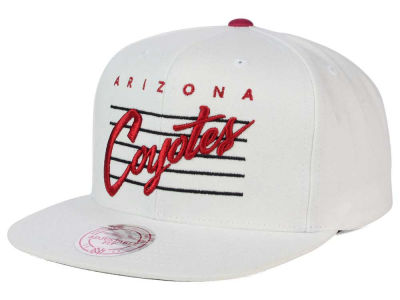 Arizona Coyotes Mitchell and Ness NHL Cursive Script Cotton Snapback Cap