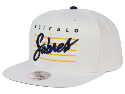 Buffalo Sabres Mitchell and Ness NHL Cursive Script Cotton Snapback Cap
