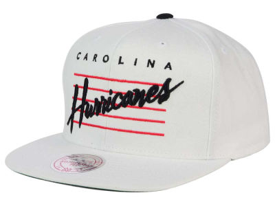 Carolina Hurricanes Mitchell and Ness NHL Cursive Script Cotton Snapback Cap
