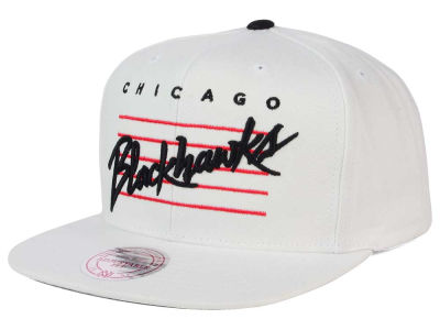 Chicago Blackhawks Mitchell & Ness NHL Cursive Script Cotton Snapback Cap