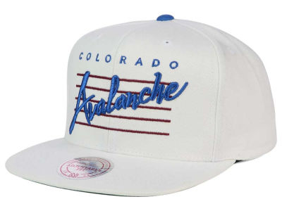 Colorado Avalanche Mitchell and Ness NHL Cursive Script Cotton Snapback Cap