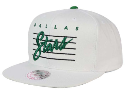 Dallas Stars Mitchell and Ness NHL Cursive Script Cotton Snapback Cap